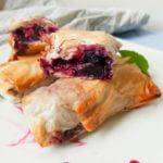 Balsamic Blueberry Phyllo Rolls