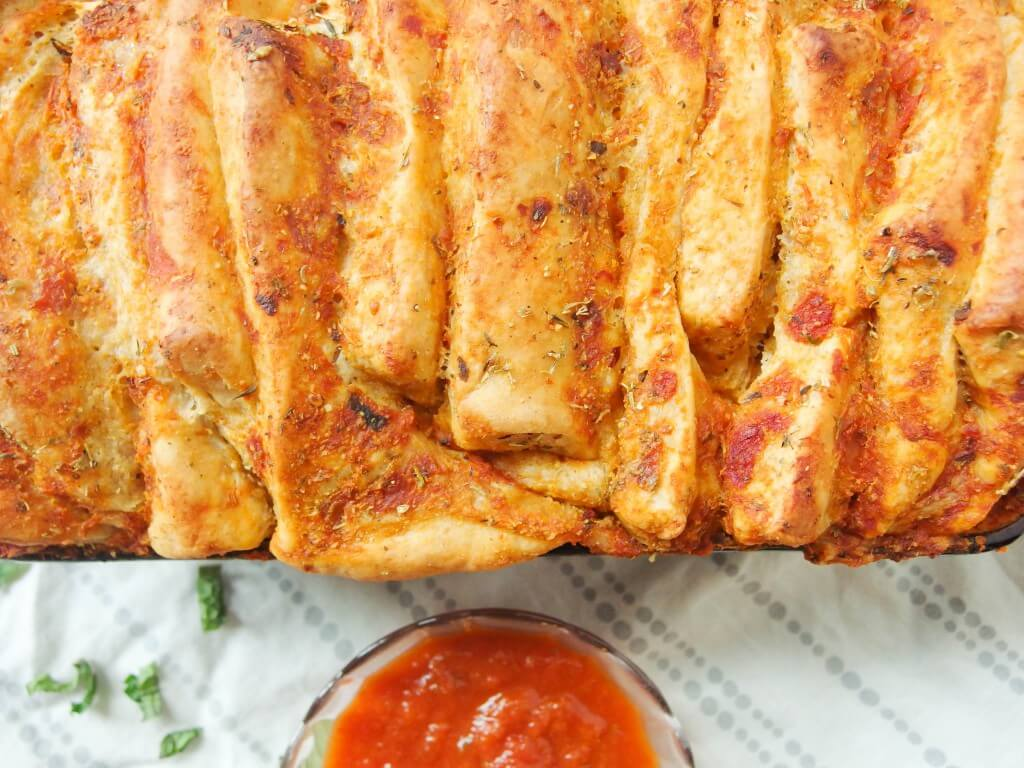 Vegan Pizza Pull-Apart Bread