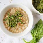Creamy Parsnip Sorghum Risotto with Jalapeno Pesto