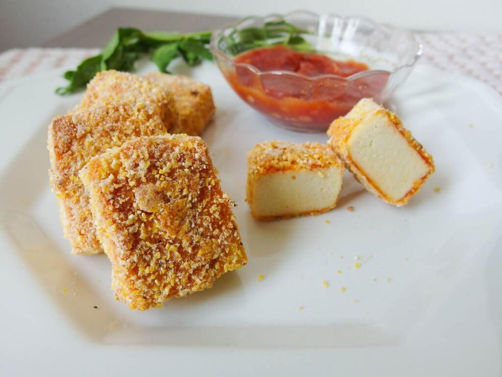 Baked sweet & sour pineapple sriracha tofu nuggets