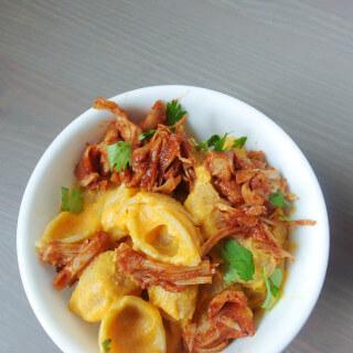 BBQ Jackfruit Sweet Potato Mac