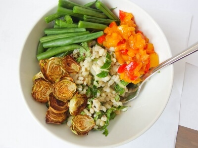 Spring Vegetable Barley Salad – haricot verts (green beans)