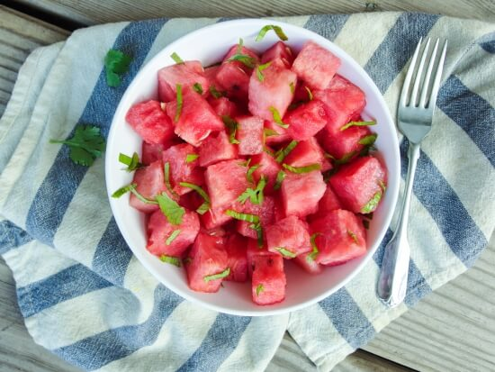 Vietnamese Watermelon Salad - vegan, gluten-free, raw, only 5 ingredients!