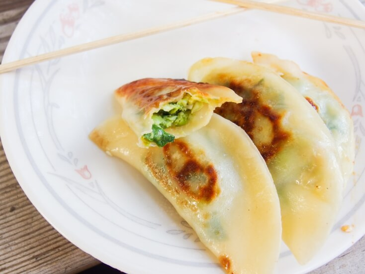 Avocado Edamame Potstickers - Yup, it's Vegan