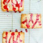 Vegan Chocolate Fudge Pop Tarts with Raspberry Glaze