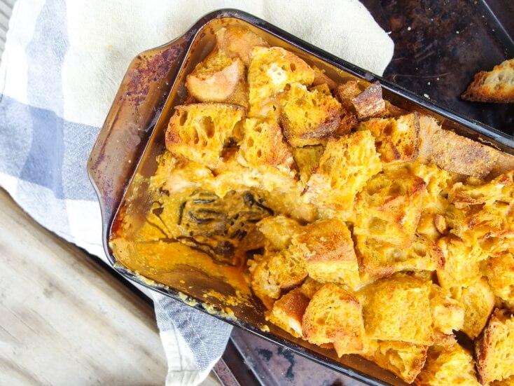 Vegan Pumpkin Bread Pudding - Yup, it's Vegan