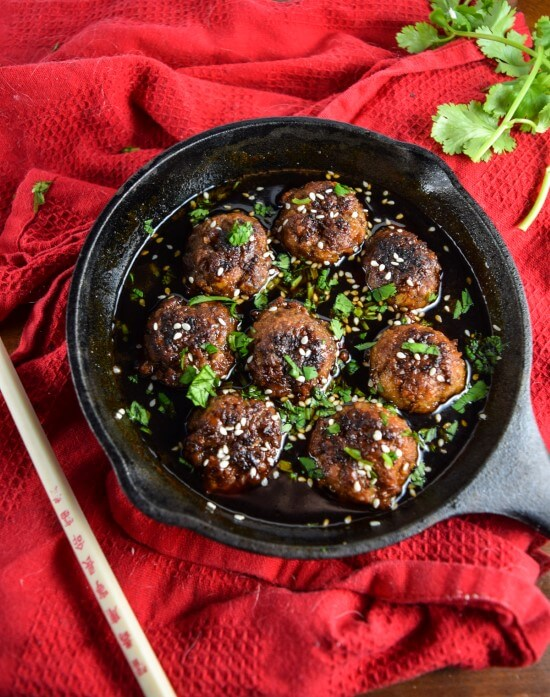 Homemade Teriyaki Seitan Meatballs | yupitsvegan.com. Sweet and savory vegan teriyaki meatballs in a homemade sauce.