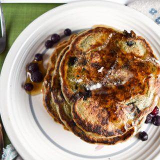Gluten-free Vegan Blueberry Pancakes