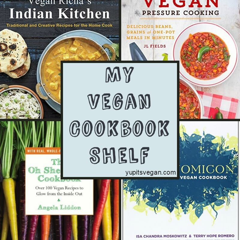 My Vegan Cookbook Shelf | yupitsvegan.com. My thoughts and favorite recipes from my several dozen vegan cookbooks, plus links to recipe excerpts and reviews found throughout the web.