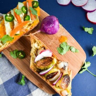 Brussels Sprout Banh Mi with Spicy Mango Sauce