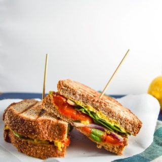 Mango Curry Hummus & Tandoori Roasted Red Pepper Panini