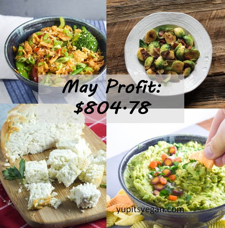 May 2016 Blog Income and Profit - Yup, it's Vegan