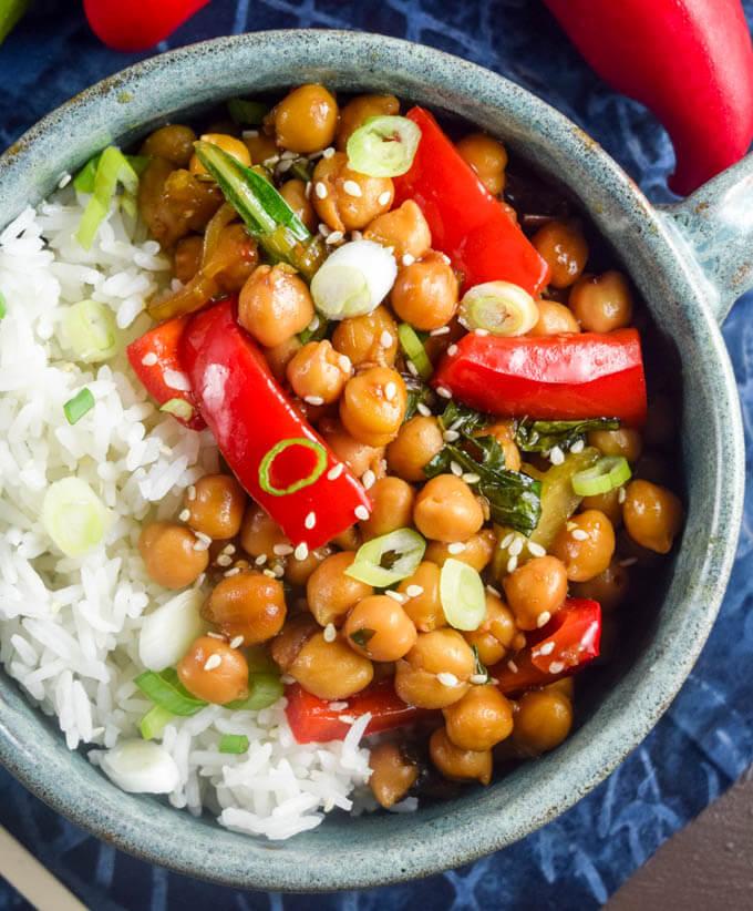 Kung Pao Chickpeas | Yup, it's Vegan