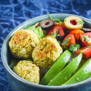 Baked Falafel Salad Bowls