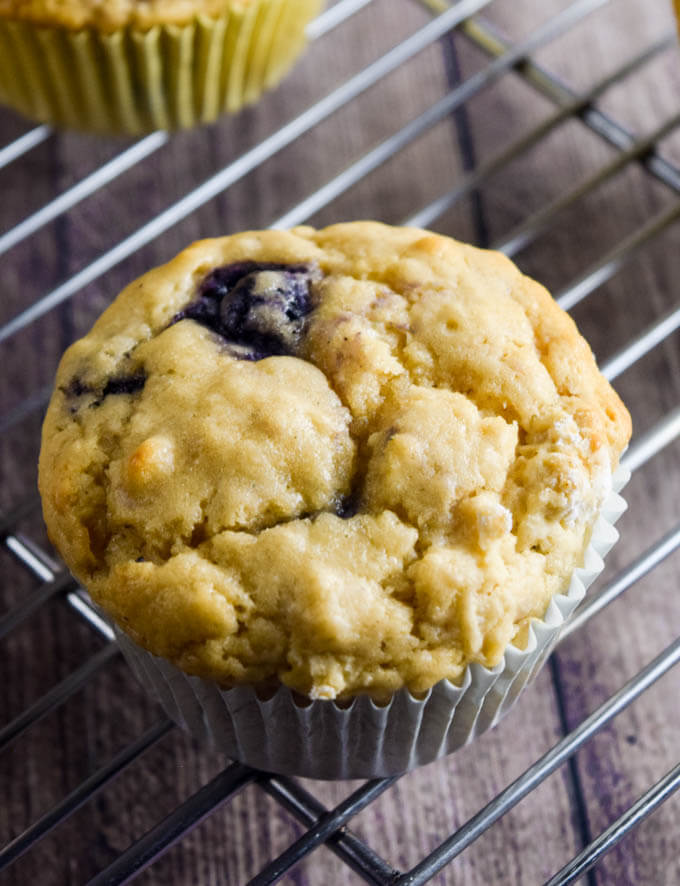 Vegan Lemon Blueberry Muffins - and a review/giveaway of Aquafaba by Zsu Dever | http://yupitsvegan.com/