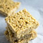 White Chocolate Almond Butter Rice Crispy Treats