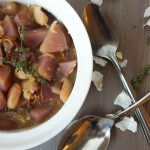 White Bean Stew with Caramelized Shallot & Roasted Garlic