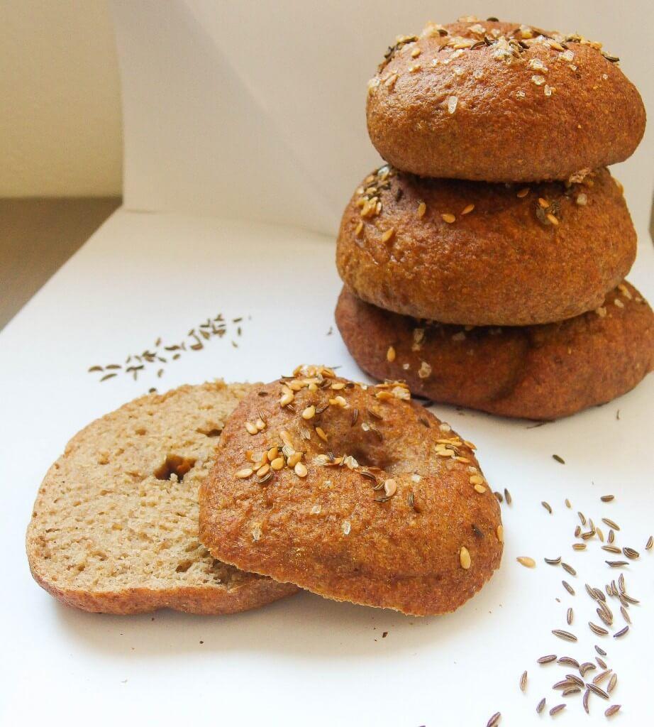 Whole grain potato bagels - Yup, it's Vegan