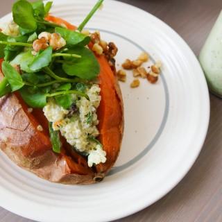 Green Goddess Quinoa-Stuffed Sweet Potatoes