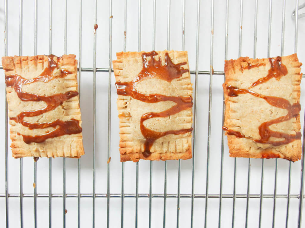 Bananas Foster Pop Tarts - Yup, it's Vegan