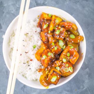 Sweet and Sour Tofu | Yup, it's Vegan