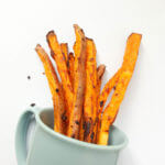 Beer-Marinated Baked Sweet Potato Fries