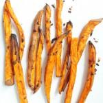Beer-Marinated Baked Sweet Potato Fries   Yup, it's Vegan