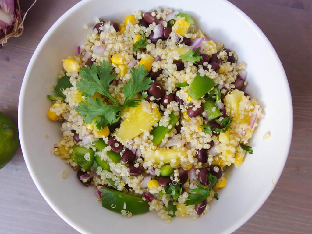 Southwestern Quinoa Salad with Cilantro-Lime Dressing - Yup, it's Vegan