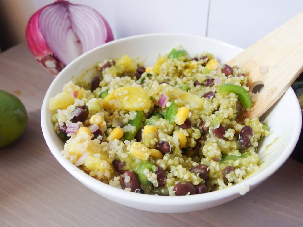 Southwestern Quinoa Salad with Cilantro-Lime Dressing - Yup, it's Vegan