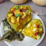 Autumn's Bounty: Butternut & Potato Masala Stuffed Peppers