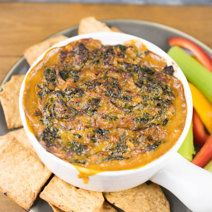 Vegan Caramelized Onion and Kale Dip | Yup, it's Vegan