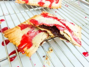 Vegan Chocolate Fudge Pop Tarts with Raspberry Glaze - Yup, it's Vegan