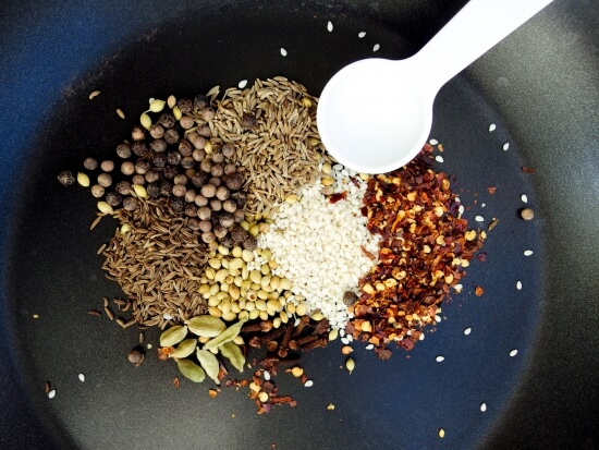 Soy free, sugar free, gluten free, and vegan - Shortcut Robust Baharat Spice Blend - just one measuring spoon needed to make this delicious Middle Eastern spice mix!