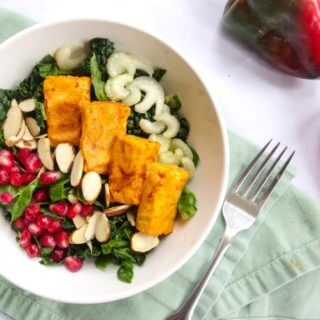 Creamy Ranch Kale Salad with Buffalo Tofu