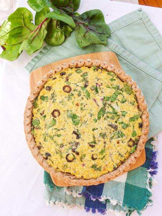 Spinach Artichoke Tofu Quiche | yupitsvegan.com