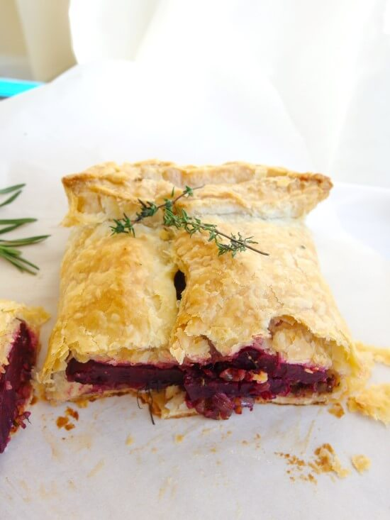 Beet Wellington (marinated roasted beets baked in puff pastry) | yupitsvegan.com