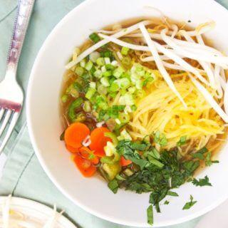 Spaghetti Squash Pho (Vietnamese Noodle Soup)
