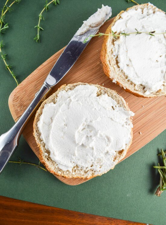 2-Ingredient Cultured Cashew Cream Cheese | Yup, it's Vegan
