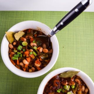 Pressure Cooker Black-eyed Pea and Collard Green Chili + a Cookbook Review
