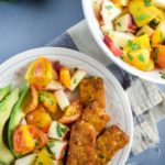 Smoky Tempeh with Fresh Peach and Cherry Tomato Salsa