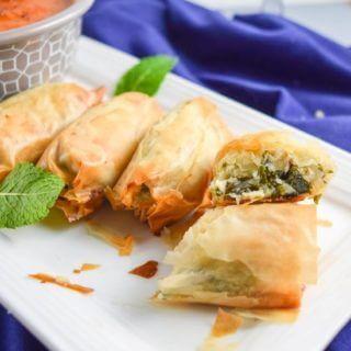 Kale Spanakopita from the Crossroads Cookbook