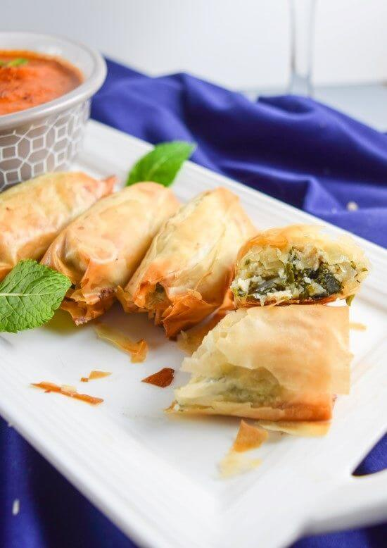 "Vegan Kale Spanakopita from the Crossroads Cookbook | yupitsvegan.com. A review of this stunning vegan cookbook and recipe for flaky, decadent kale and ""ricotta"" spanakopita by Chef Tal Ronnen!"