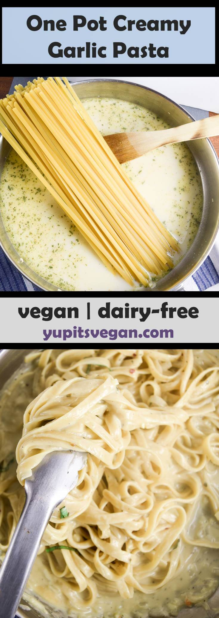 One Pot Vegan Fettuccine Alfredo