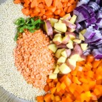 One Pot Moroccan Quinoa with Red Lentils