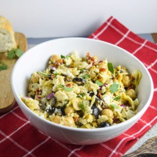 Mediterranean Chickpea Salad with Almond Feta
