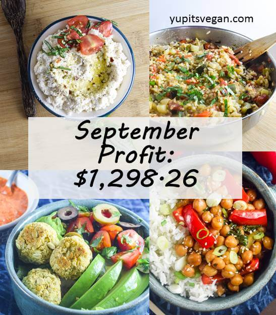 September 2016 Blog Income and Profit | yupitsvegan.com