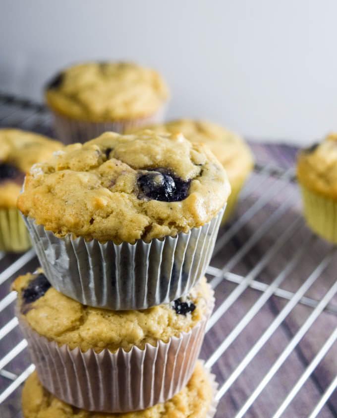 Vegan Blueberry Lemon Muffins   Yup, it's Vegan