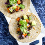 BBQ Sweet Potato Black Bean Tacos | yupitsvegan.com