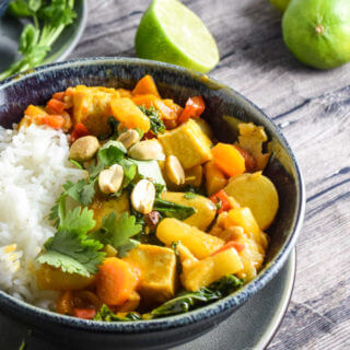 """Triple P"" Peanut, Pineapple and Potato Curry"