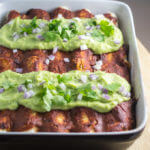 Chickpea Scramble Breakfast Enchiladas with Chipotle Sauce